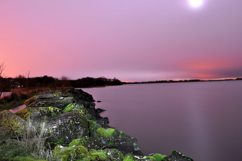 Lough Neagh at night.