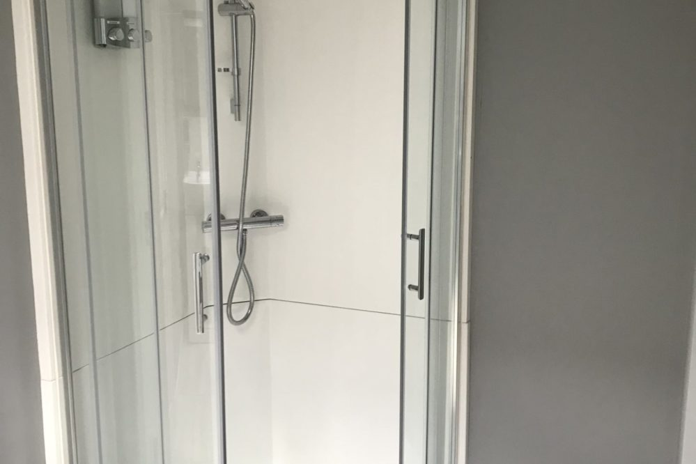 The large walk-in shower complete with complimentary toiletries